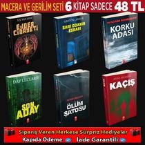 6 Kitaptan Oluşan Macera Ve Gerilim Seti (3.Set) - Thumbnail