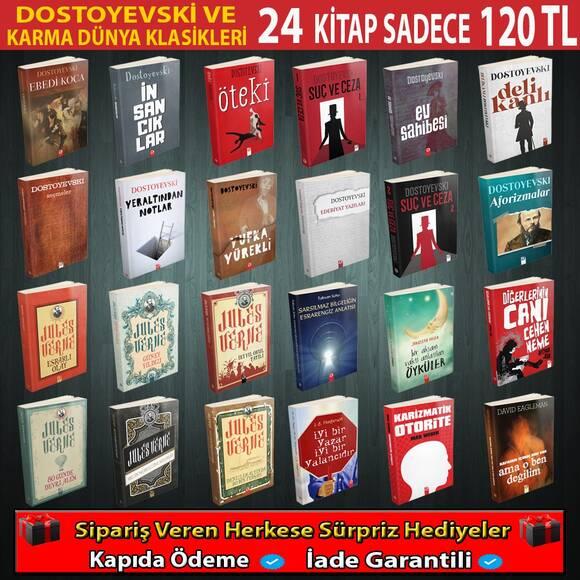 Dostoyevski Ve Karma Klasikler Seti 24 Kitap