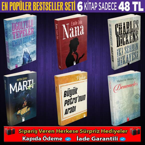 En popüler Bestseller Seti 6 kitap (1.set)