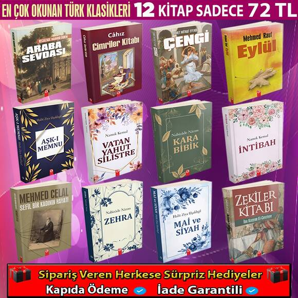 Türk Edebiyatının En Çok Okunan Klasikleri 12 Kitap